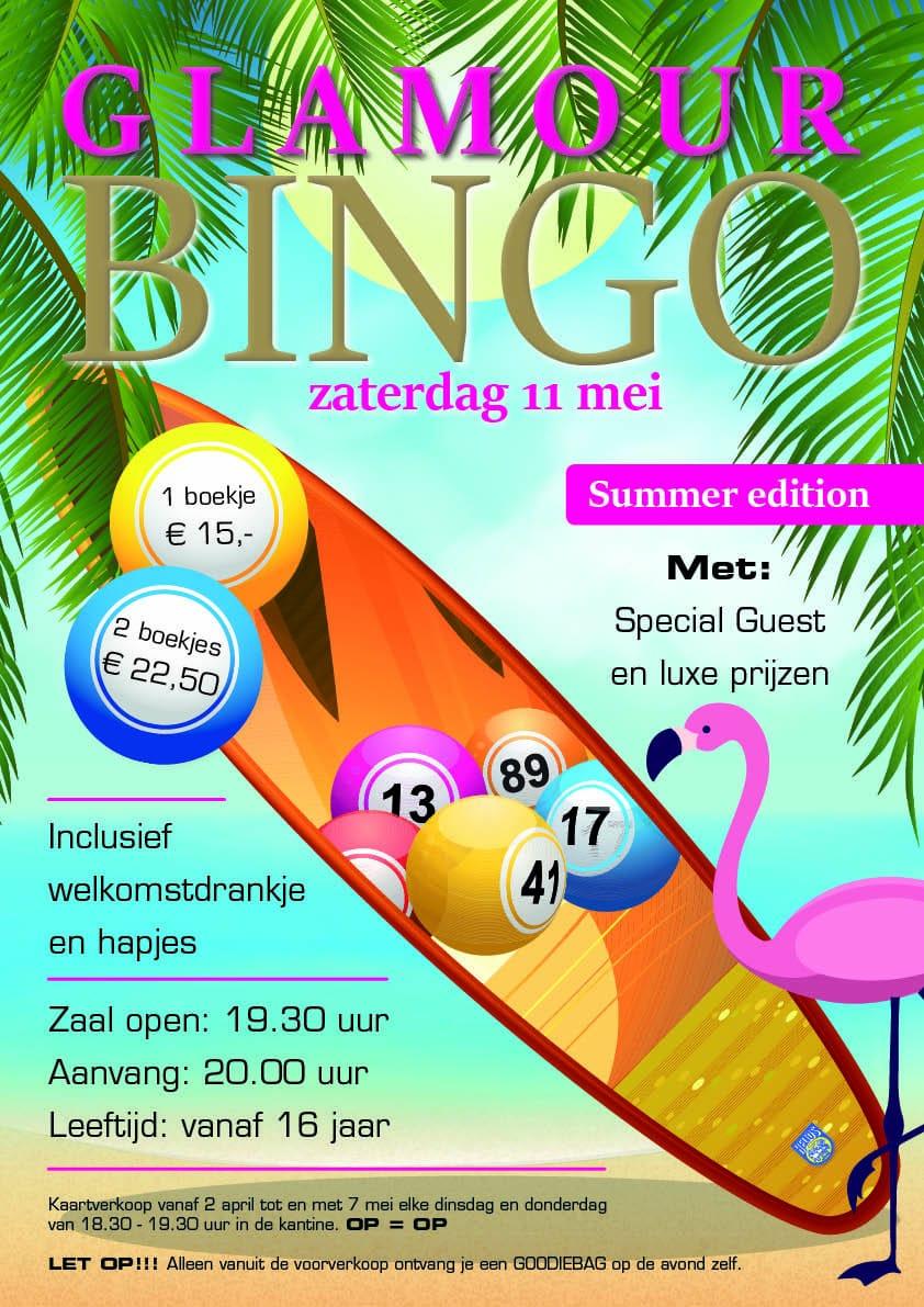 Zaterdag 11 mei: Glamour Bingo Summer Edition